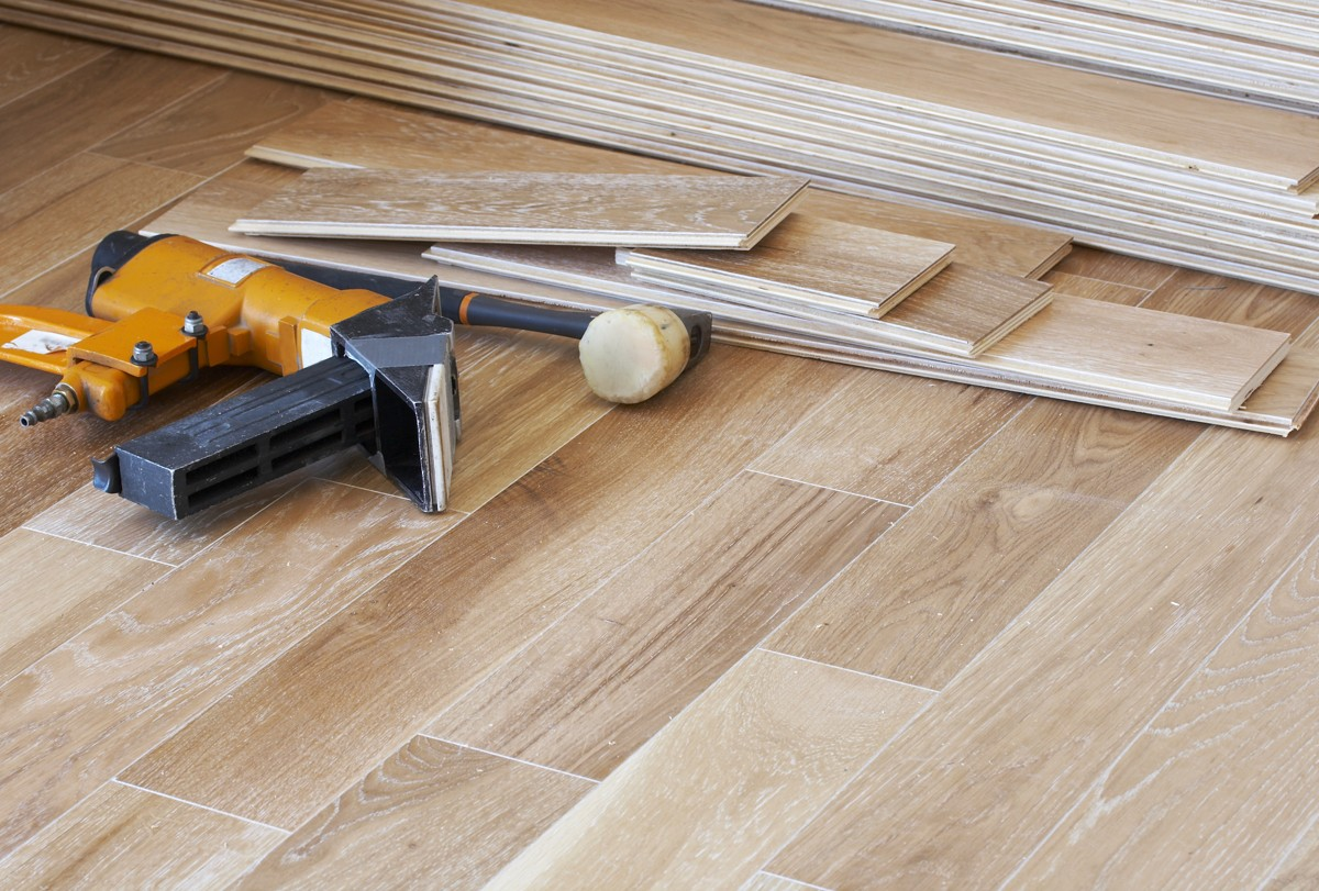 Hardwood flooring installation | Webb Carpet