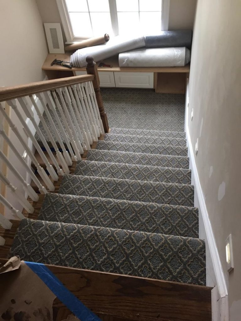 Carpet Flooring installation on Stairs | Webb Carpet
