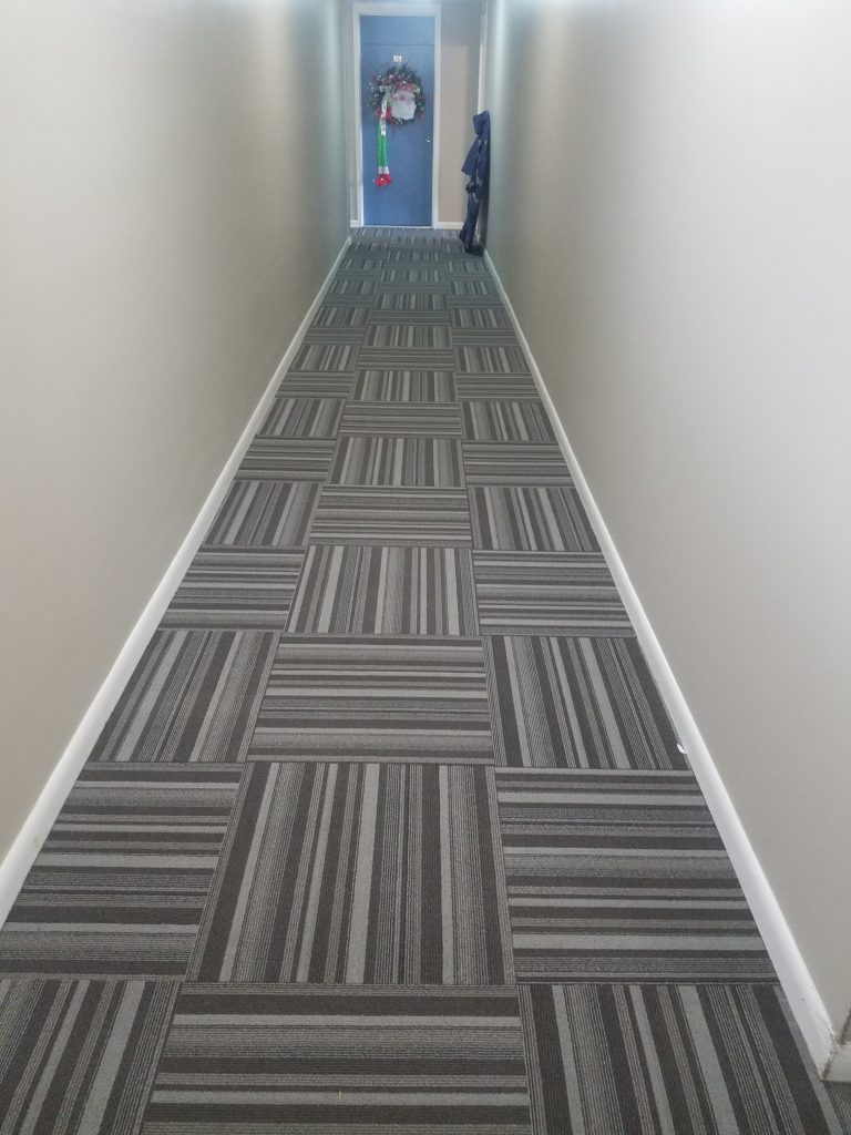 Carpet Tile Hallway | Webb Carpet