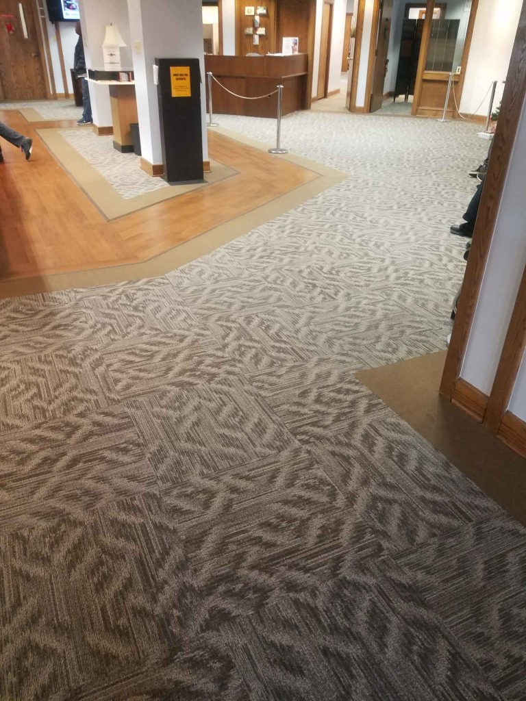 Commercial Carpet LVT Custom Design