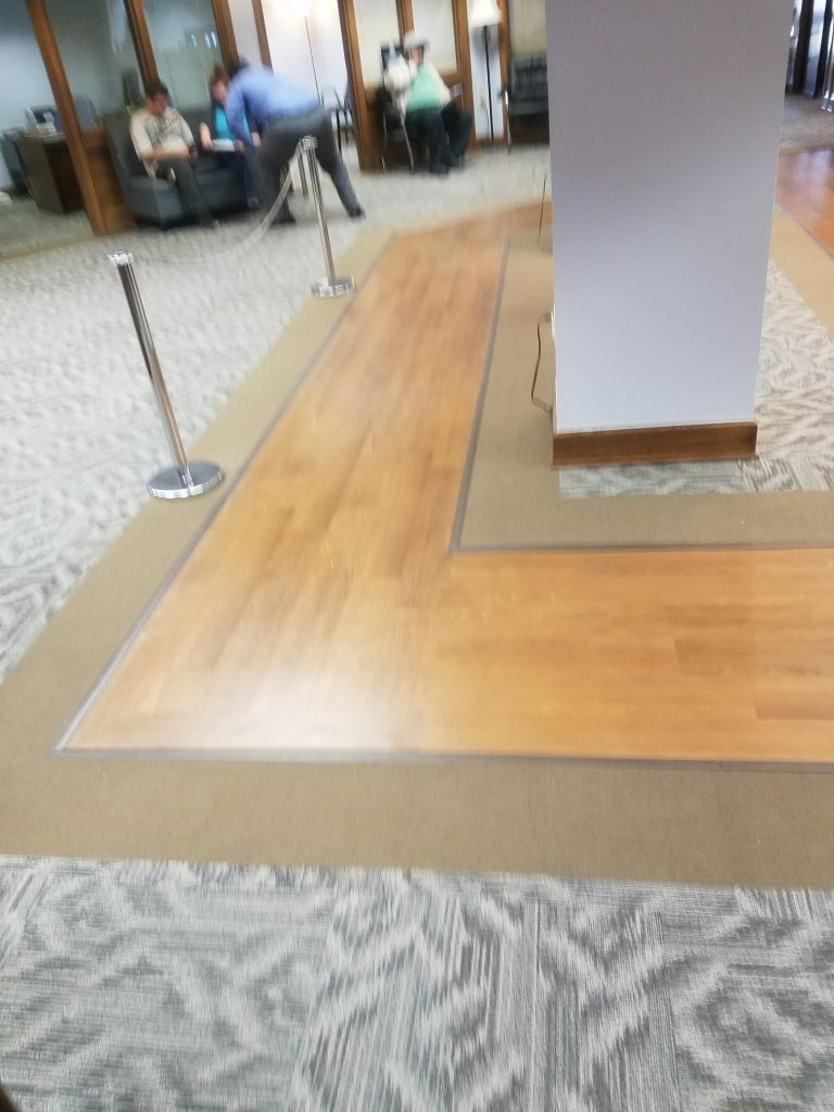 Commercial Carpet LVT Custom Design | Webb Carpet