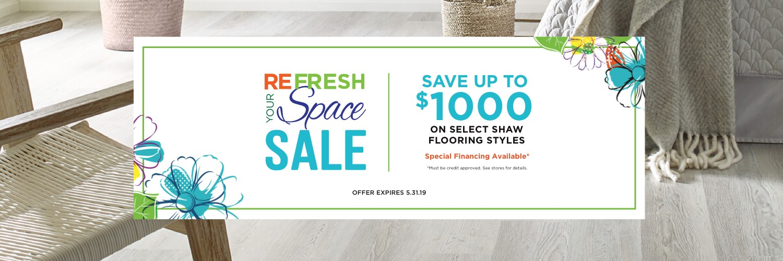 Refresh Your Space Sale | Webb Carpet