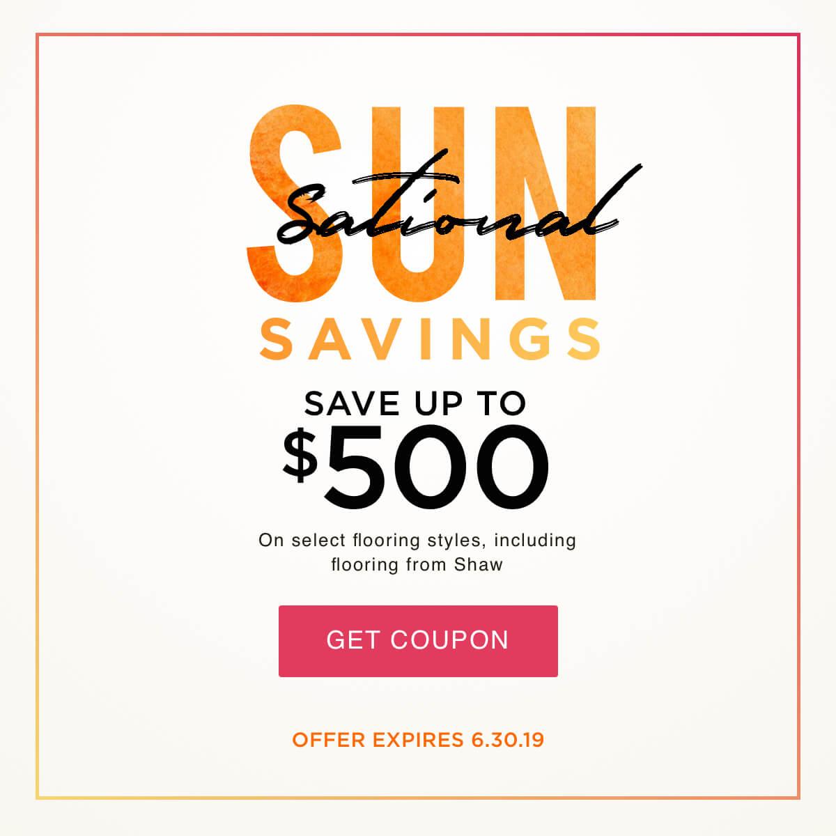 Sun Sational Saving Coupobn