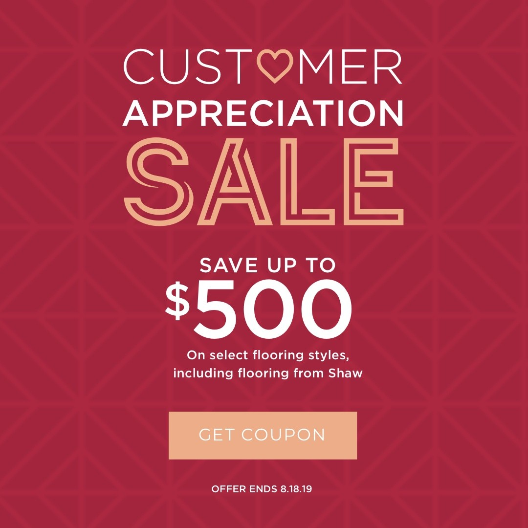 Customer Appreciation sale | Webb Carpet