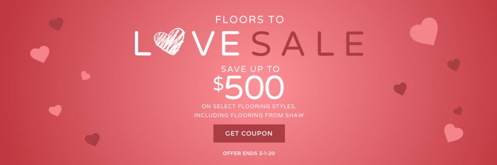 Floors to love sale banner | Webb Carpet
