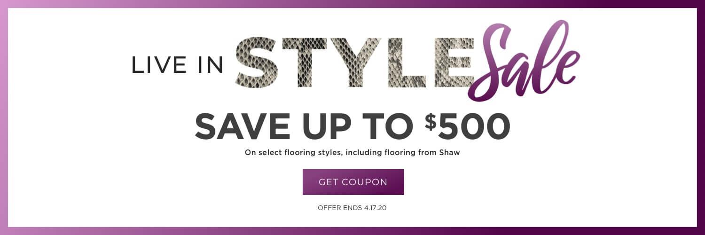 Live in style sale banner | Webb Carpet