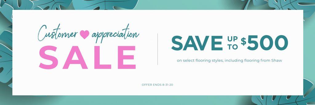 Customer appreciation sale | Webb Carpet Company